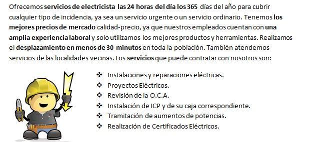 Electricistas en La Puebla rapidos